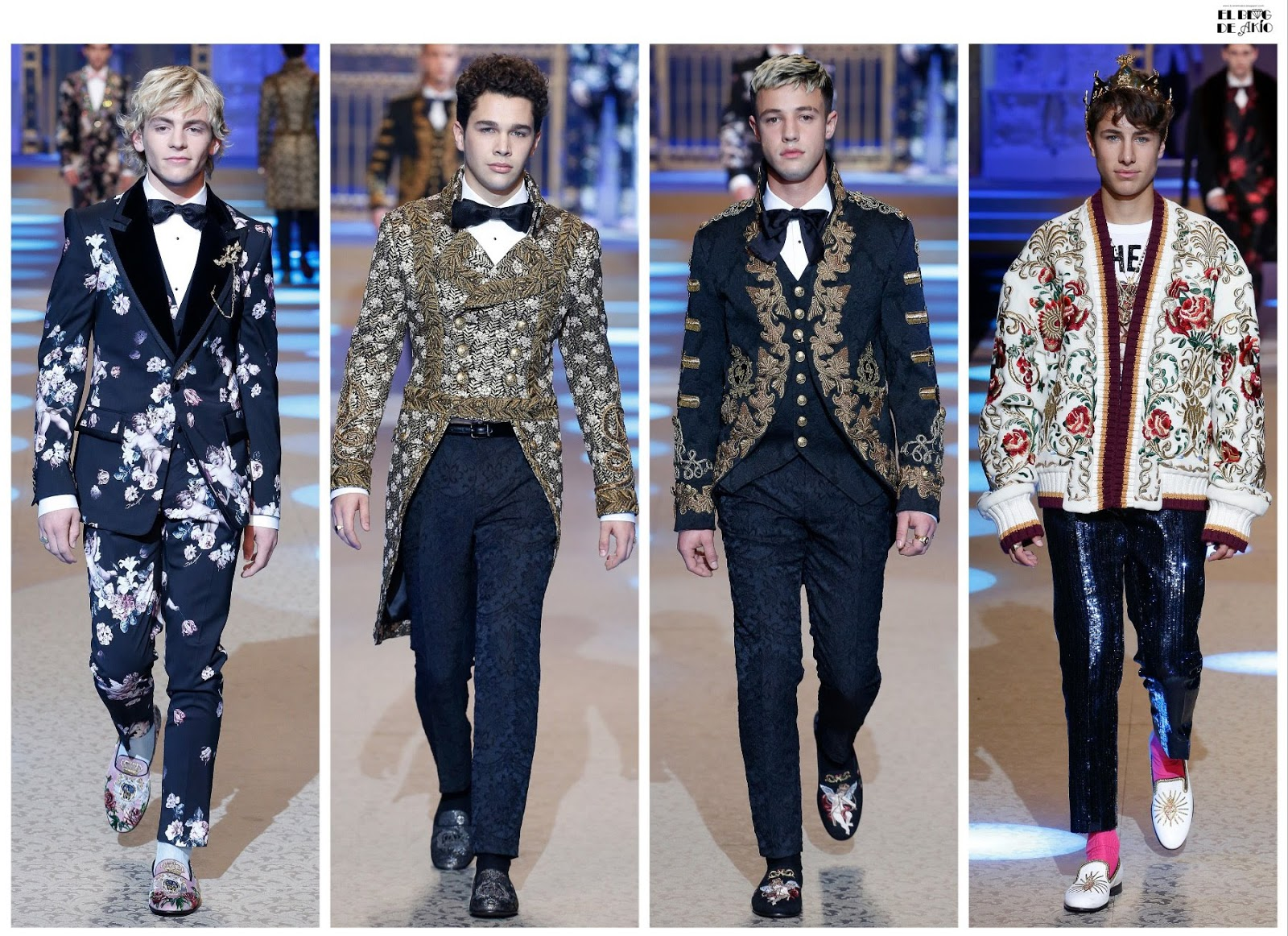 00fa497e69 Desfile Dolce Gabbana Menswear Fall Winter 2018 2019 en Milan Petti Uomo  (fotos y videos)