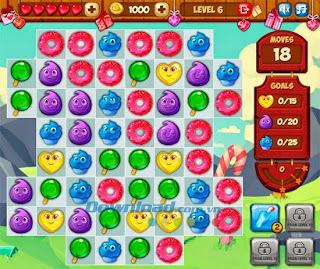 hình ảnh trong game kim cuong kẹo ngọt