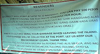 Canigao Island Reminders