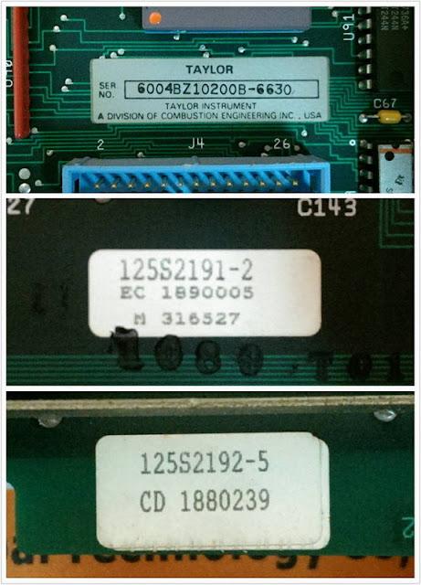 TAYLOR ABB 6004BZ10200B PLC MODULE CARD 125S2192-5