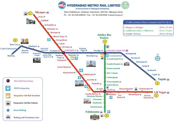 HMR Hyderabad Metro Rail Fares Stations Price for Ticktet ...