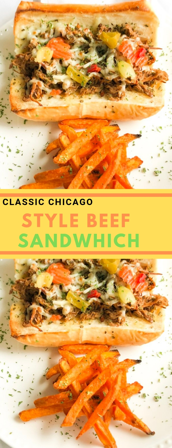 Classic Chicago Style Beef Sandwhich #sandwich #lunch #dinner #slowcooker #beef