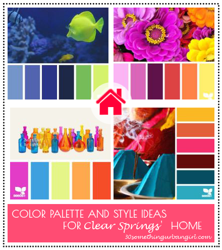 Color palette and style ideas for Clear Springs' home