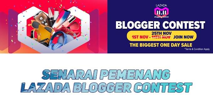 Senarai Pemenang Lazada 11.11 Blogger Contest Bagi Tahun 2018