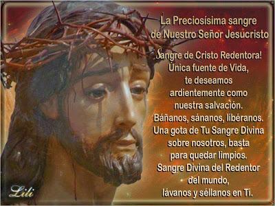 Resultado de imagen para Letanías a la preciosísima sangre de Jesucristo
