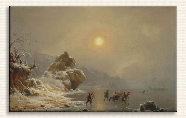 Andreas Achenbach, Buz üzerinde Avcılar tablosu