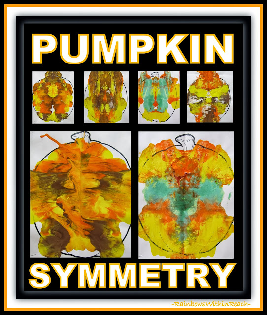Symmetrical Pumpkin Paintings via RainbowsWithinReach