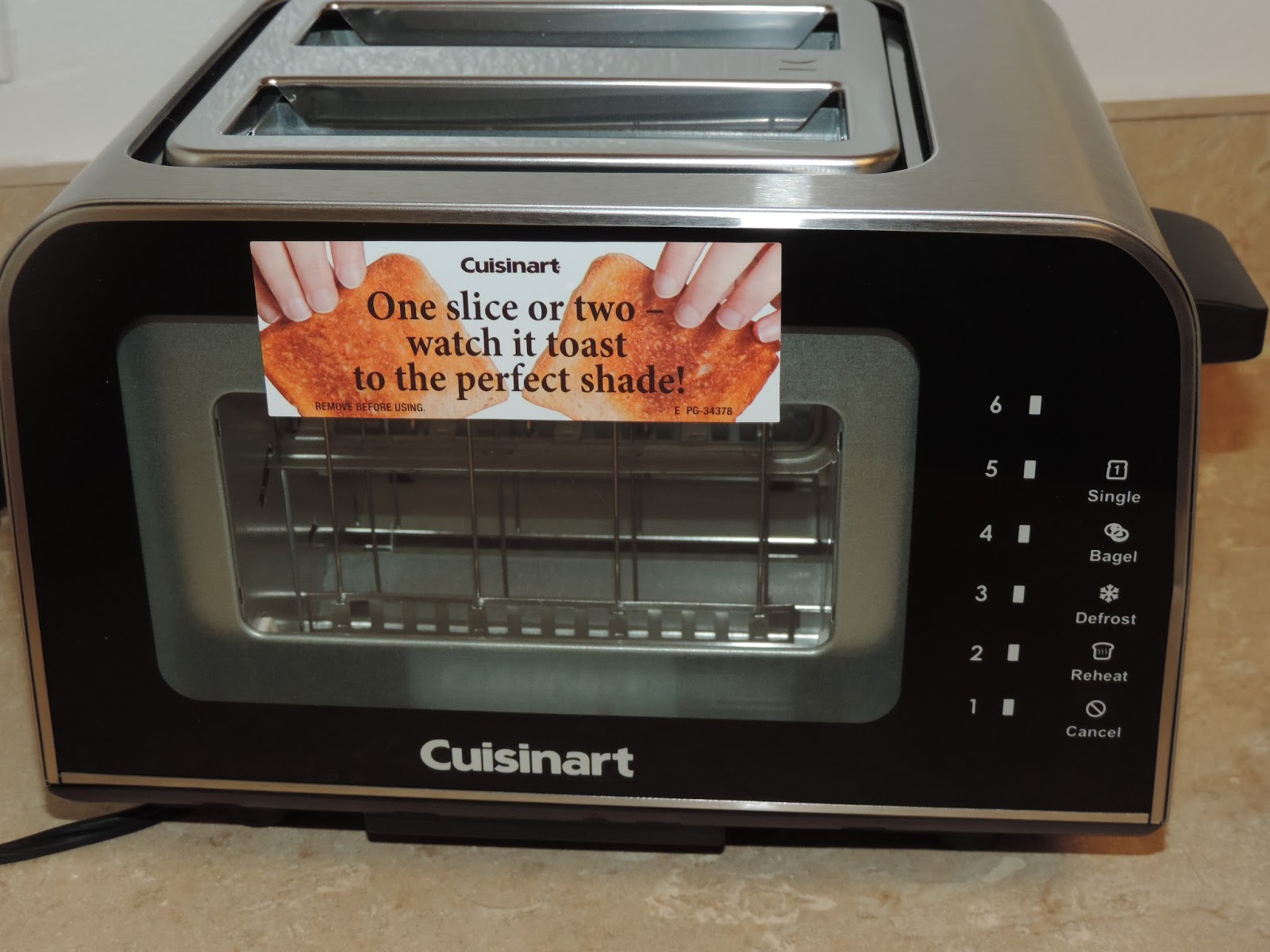 mail4rosey my cuisinart viewpro glass toaster is see. Black Bedroom Furniture Sets. Home Design Ideas