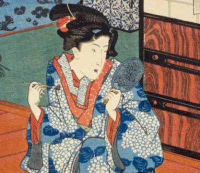 江戸時代の鏡の絵。