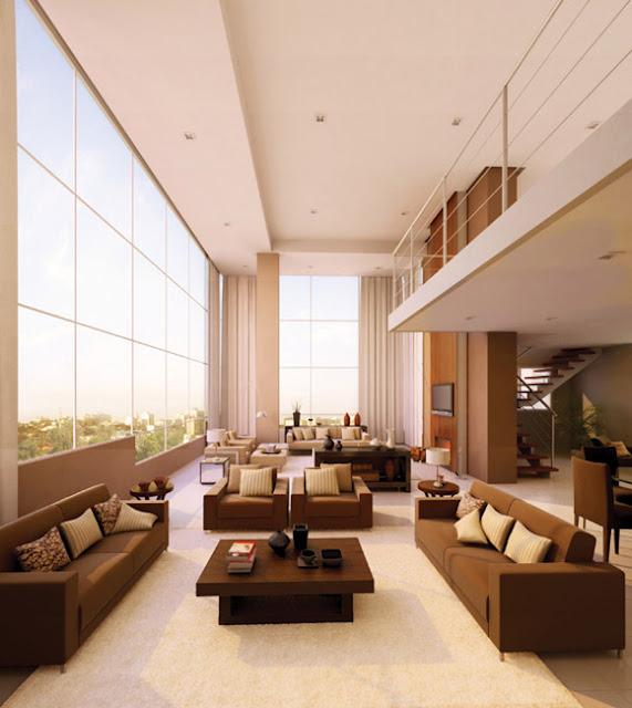 Mezanino Com Sala De Tv ~ Mezanino grande! Guardacorpo de inox! Salas super amplas!! Detalhe