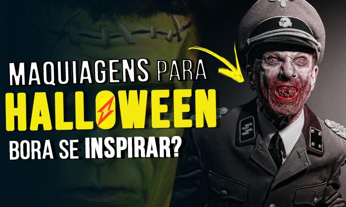 maquiagem de halloween masculina para homem facil passo a passo  de Zumbi, Vampiro, Coringa, Palhaço, Caveira, etc.