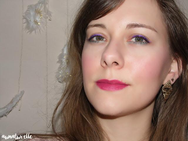 maquillage yeux violine