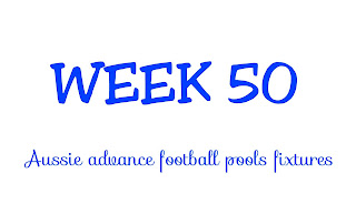 WEEK 50: AUSSIE FOOTBALL POOLS FIXTURES | 23-06-2018 | www.ukfootballplus.com.ng