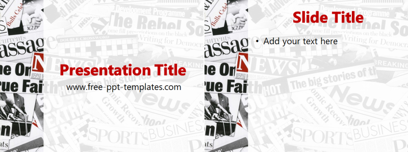 Newspaper PPT Template | Free PowerPoint Templates
