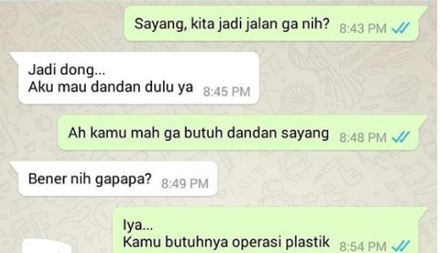 Kumpulan Chat Wa (Whatsapp) Gombal Yang Lucu Dan Gokil