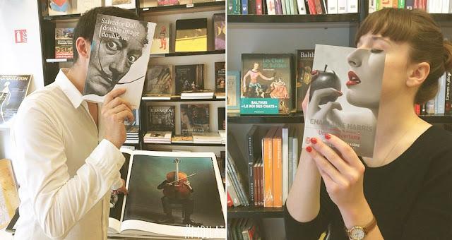 Librería mollat Francesa triunfa en Instagram por sus divertidas fotos con portadas de libros