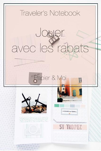 Traveler's Notebook - Rabats photos cachées - Papier & Moi