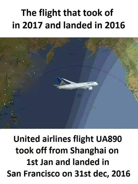 United Airlines, Flight UA890, Shanghai, San Francisco, 2016, 2017, December 2016, January 2017, UA 890, China, USA, United States, Flight, Plane,