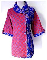 Model Baju Batik Kerja Dua Model Aneka Corak Warna