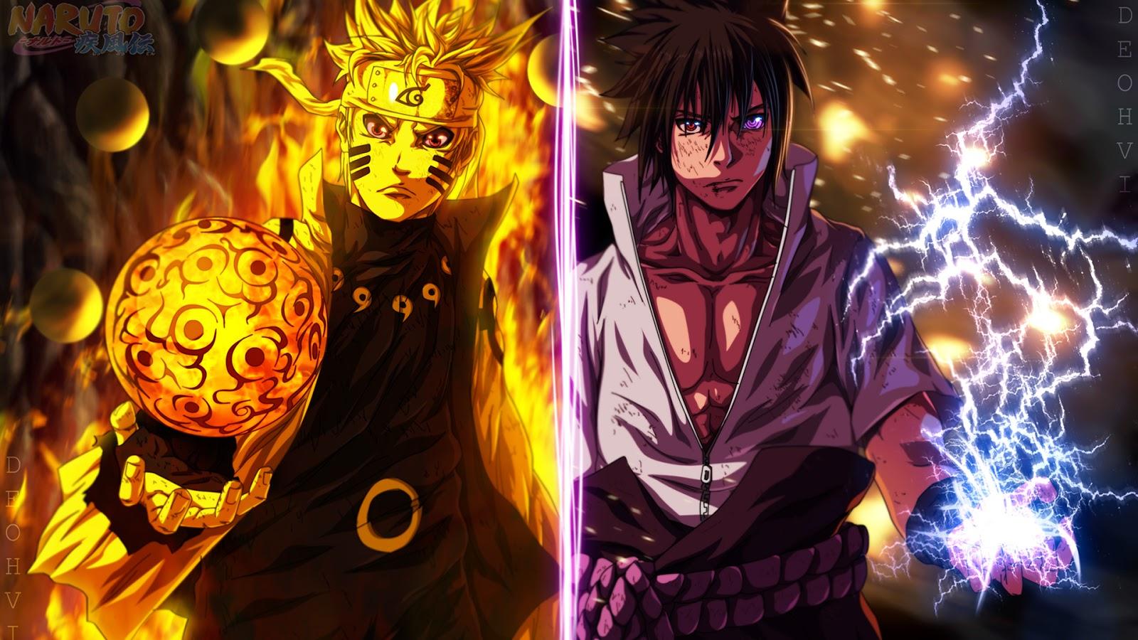Fond D Ecran Naruto Vs Sasuke Fonds D Ecran Hd