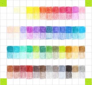 Übersicht Farben: KINGTOP 48er Buntstifte Schaft Farbstift Eco Bleistifte Kartonetui für Kunst Aquarelle gut Geschenk