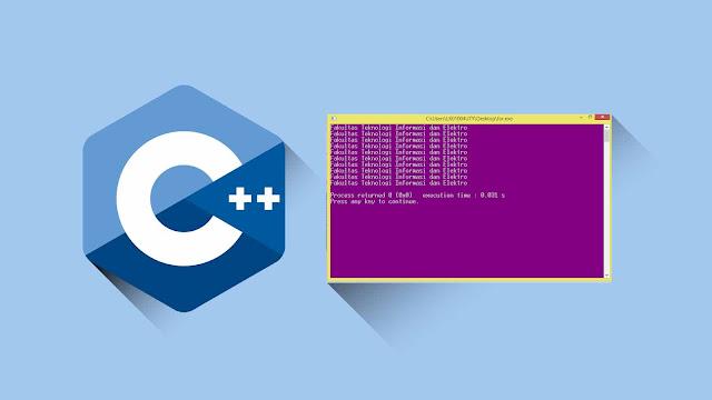 Contoh program C++ Increment