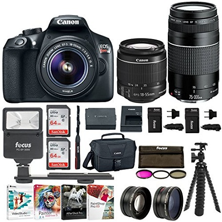 6. Canon EOS Rebel T6 SLR Camera : 18 Megapixel 1080p HD Video Bundle