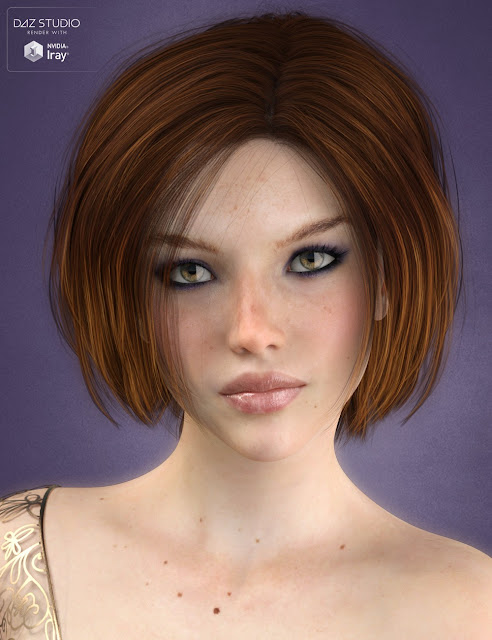 Cordia Hair for Genesis 3 Female