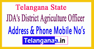 JDA's District Agriculture Officer Mobile Numbers in Telangana