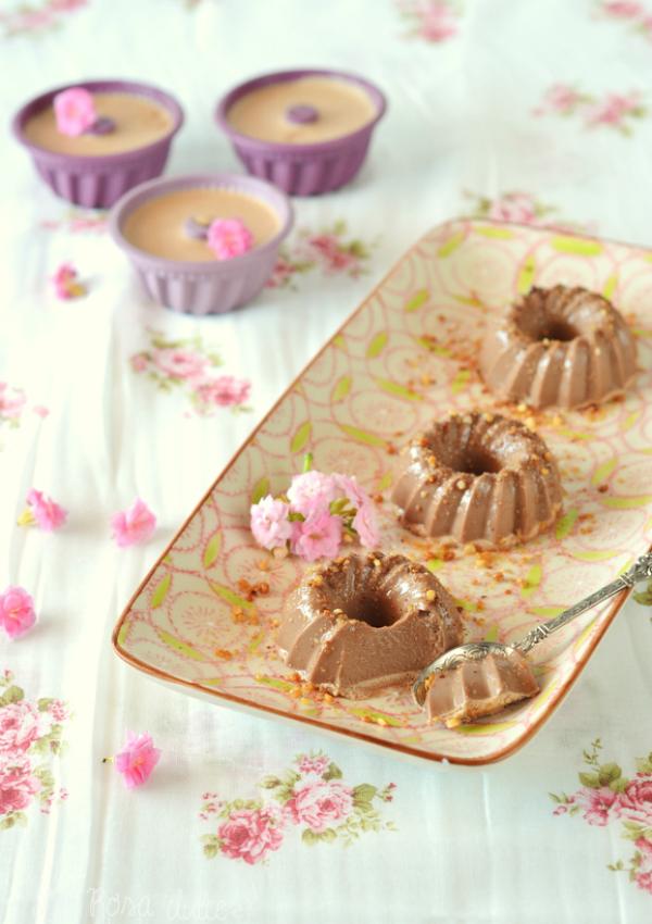 Babarois de chocolate sin lactosa
