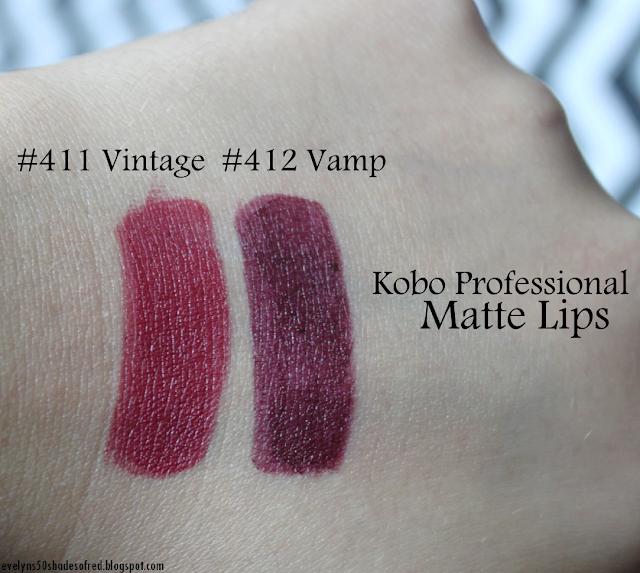 Kobo Matte Lips 411 Vintage 412 Vamp