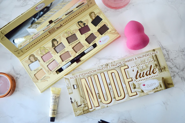 Blogger photo of the Nudetude eyeshadow palette