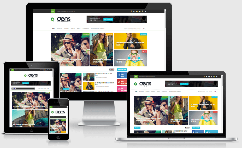 Dens - Responsive Blog/Magazine Blogger Template