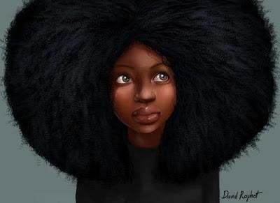 African girl Art