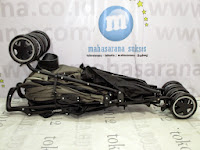 lipat Babyelle S502RS Techno Lightweight Buggy Hadap Depan atau Belakang Beige Kereta Dorong Bayi