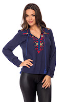Bluza Eleni Bleumarin • Bluze si Camasi