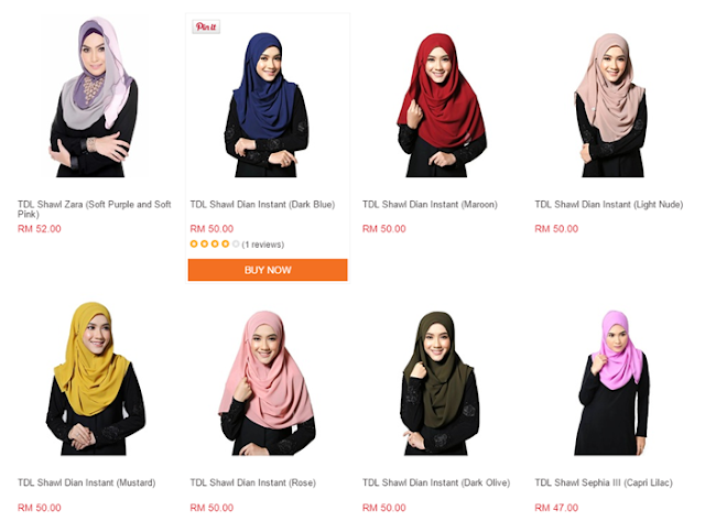 Review Selendang Shawl Dari Lazada