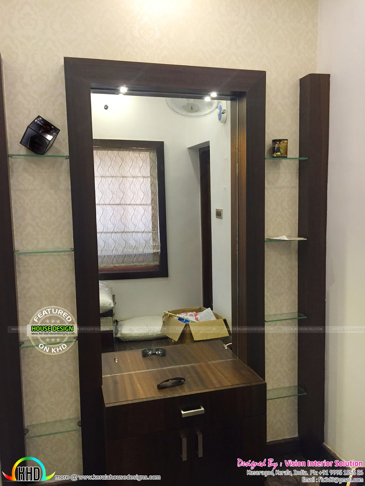 Front Elevation Designs For Ground Floor : Furnished master bedroom interior kerala home design and