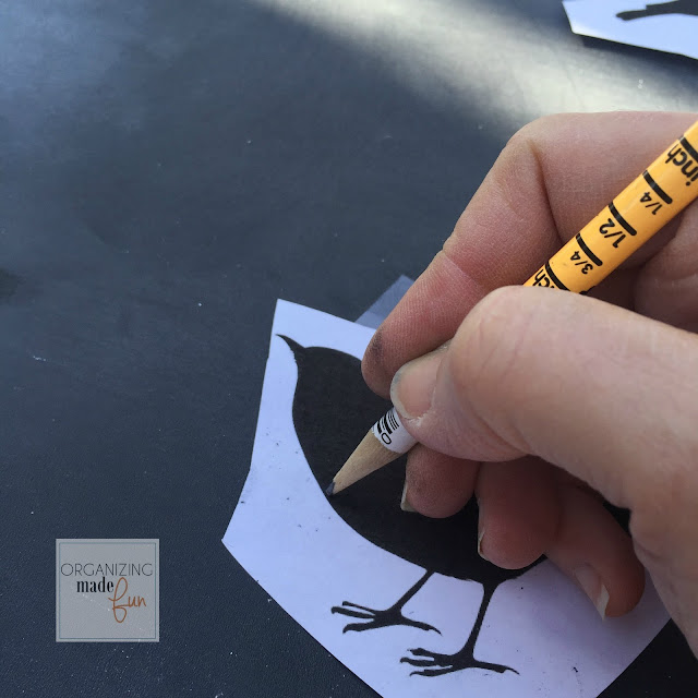 Use pencil to trace picture that has been colored with graphite on backside :: OrganizingMadeFun.com