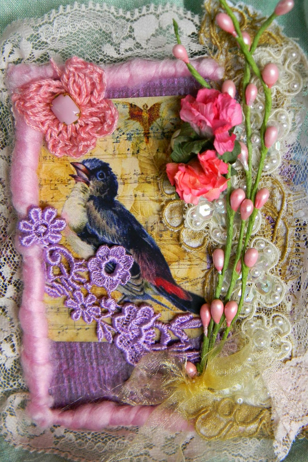 SPRING BIRD COLLAGE