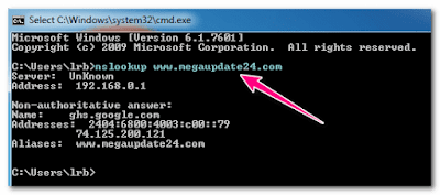 Find DNS Address Of Website