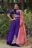 Actress Shraddha Srinath in Purple Chania Choli Cute Pics ~  Exclusive 06.jpg