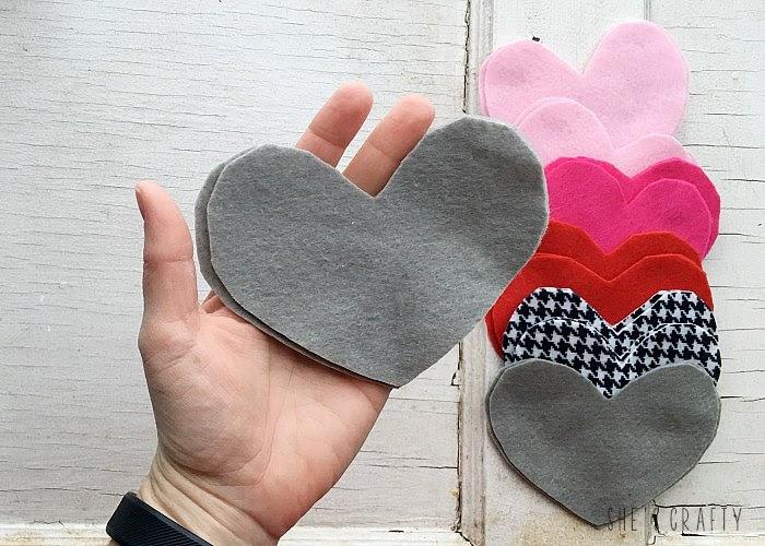 Felt Heart Hand Warmers -cut hearts from felt sheets