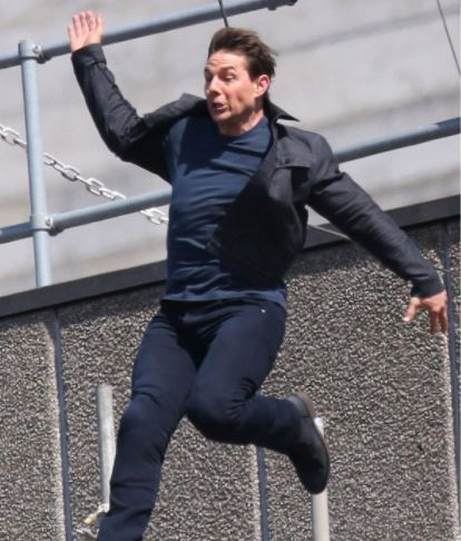 "Video: Tom Cruise injured while performing a stunt on set of ""Mission Impossible 6"""