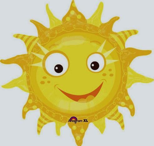 Фольгированный шарик солнышко