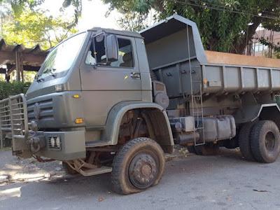 Polícia apreende caminhão do Exército com 3 toneladas de maconha; Três militares foram presos