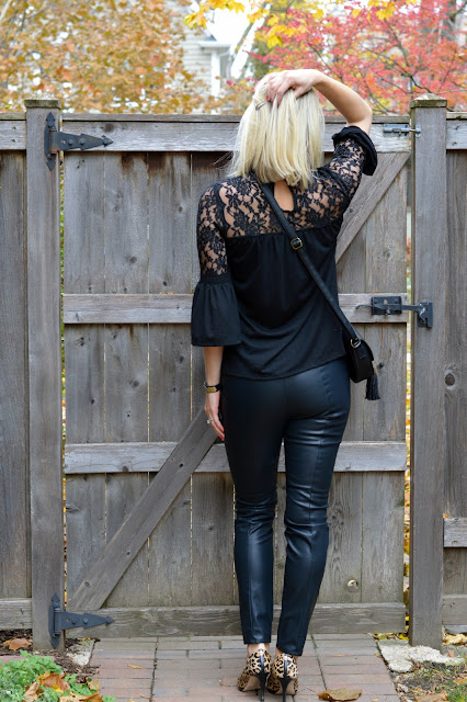 Versatile shirt to wear with leather pants