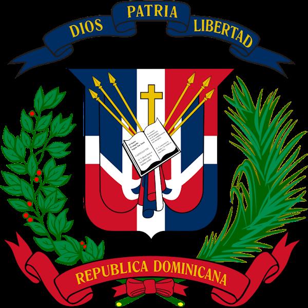 Logo Gambar Lambang Simbol Negara Republik Dominika PNG JPG ukuran 600 px