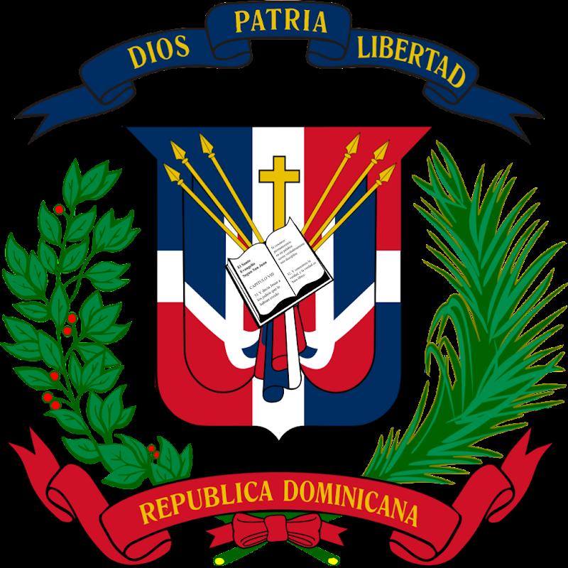 Logo Gambar Lambang Simbol Negara Republik Dominika PNG JPG ukuran 800 px