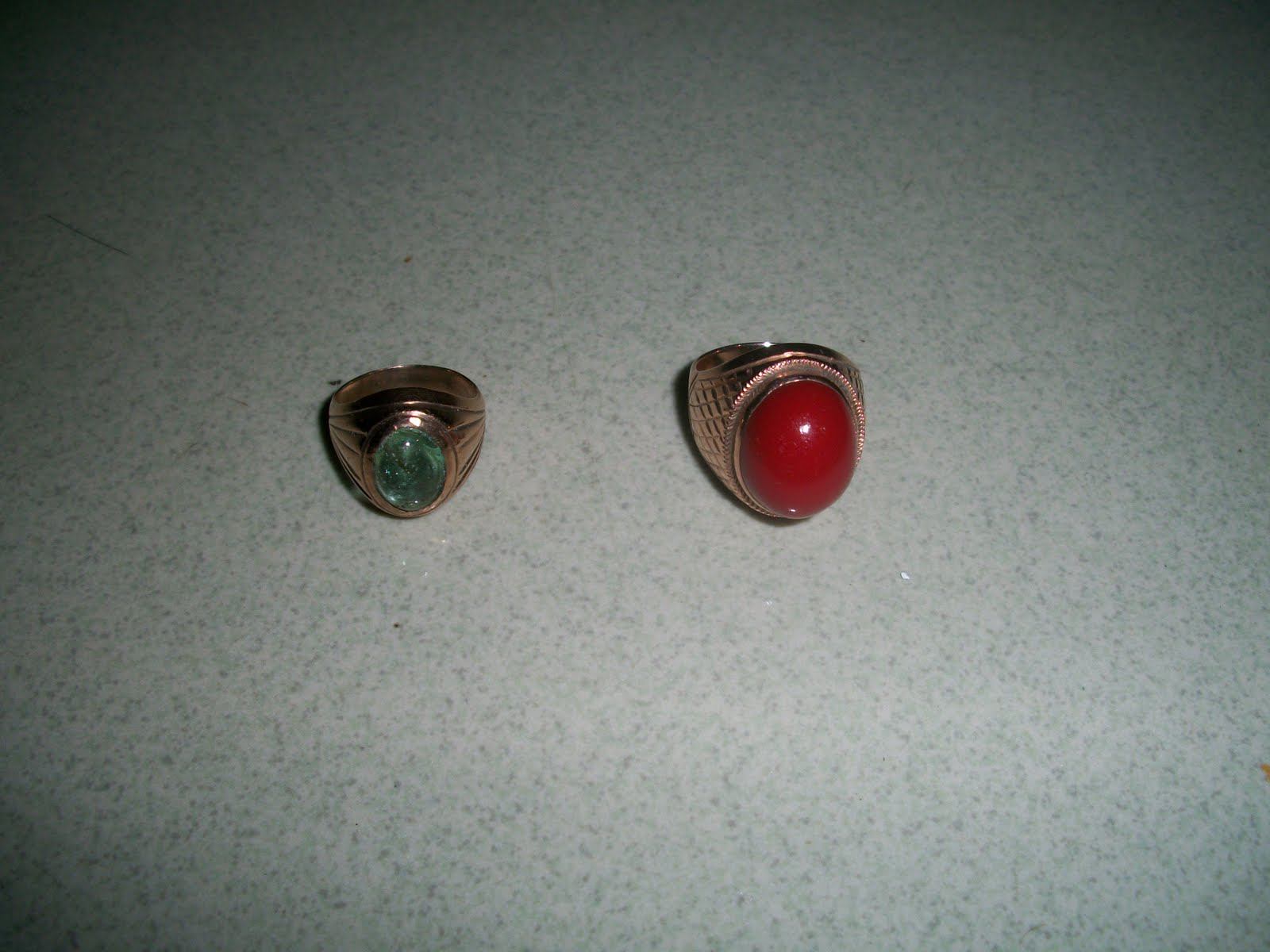 Collectible Items 2 Pieces Old Vintage Gold Rings 2